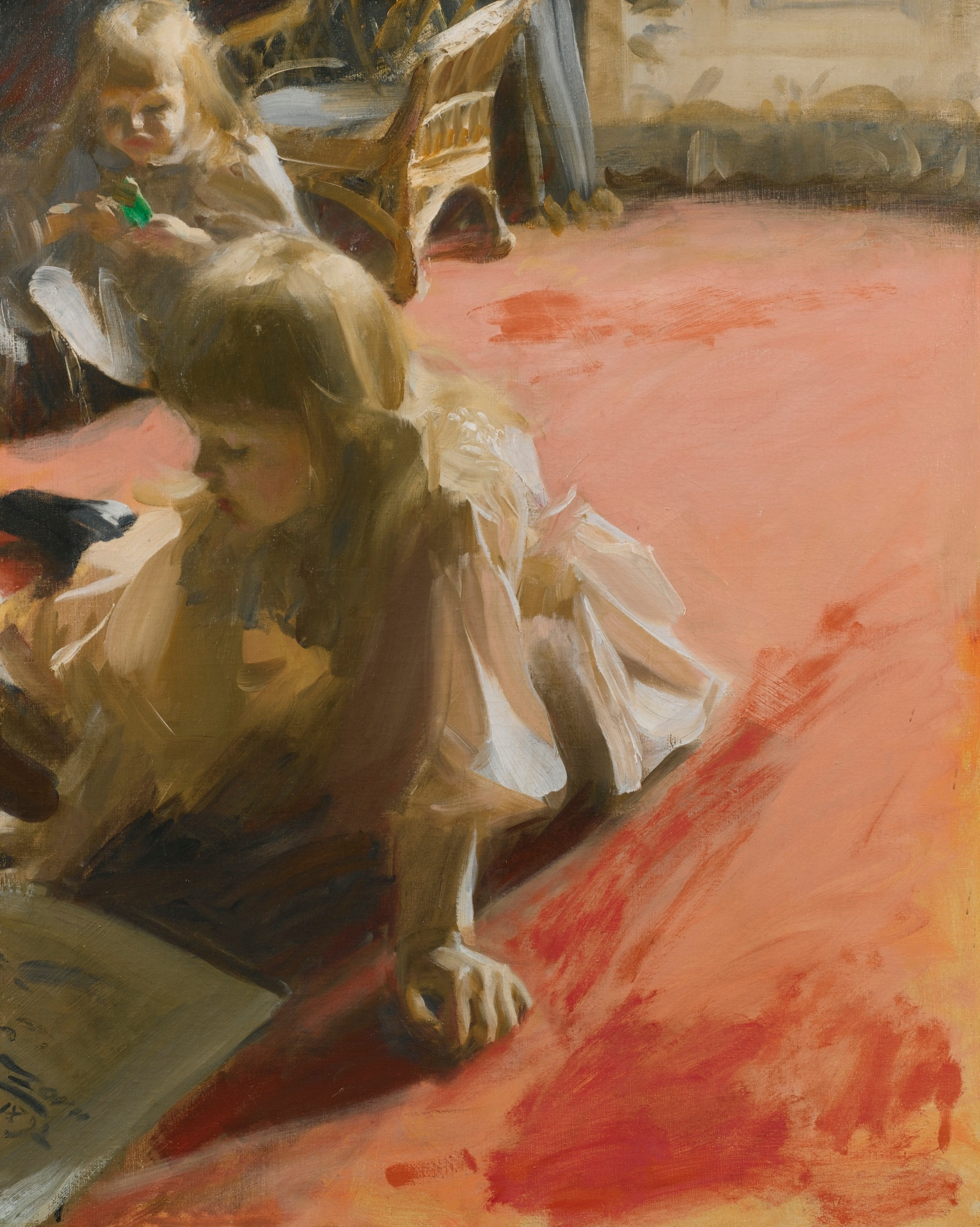 Anders Zorn - A Portrait of the Daughters of Ramón Subercaseaux