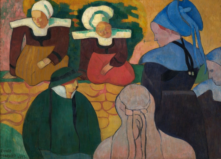 Émile Bernard - Breton Women at a Wall