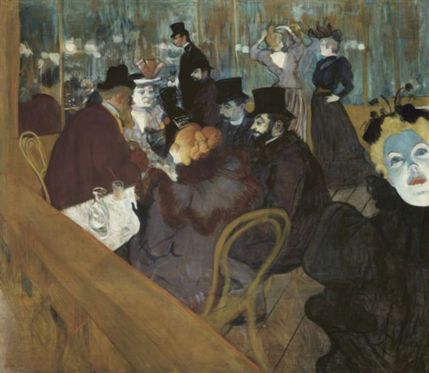 Henri de Toulouse-Lautrec - At The Moulin Rouge