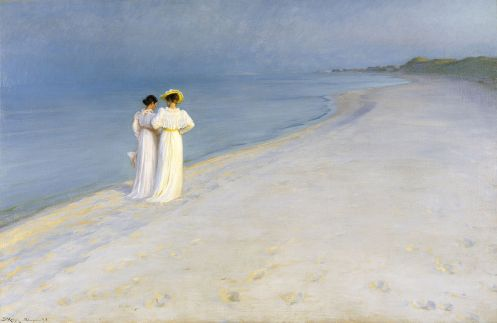 Peder Severin Krøyer – Summer Evening on Skagen's Southern Beach