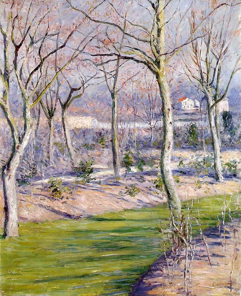 Gustave Caillebotte – The garden of the Petit Gennevilliers in winter