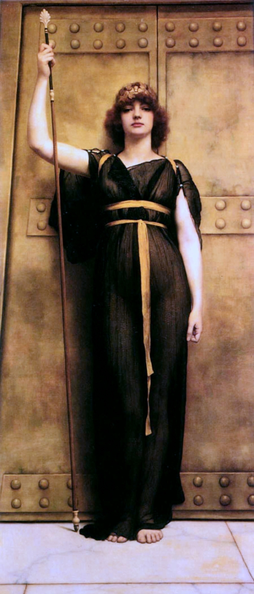 John William Godward - A Priestess