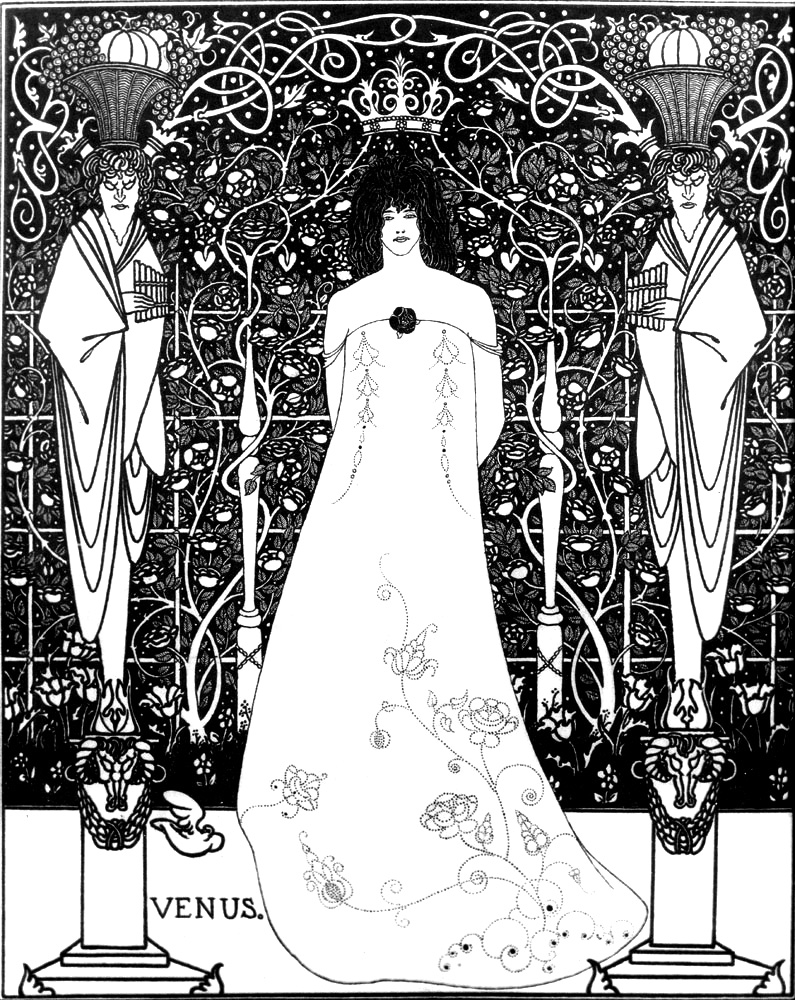 Aubrey Beardsley – Venus Between Terminal Gods