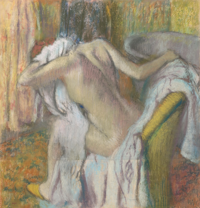 Edgar Degas - After the Bath, Woman drying herself.jpg