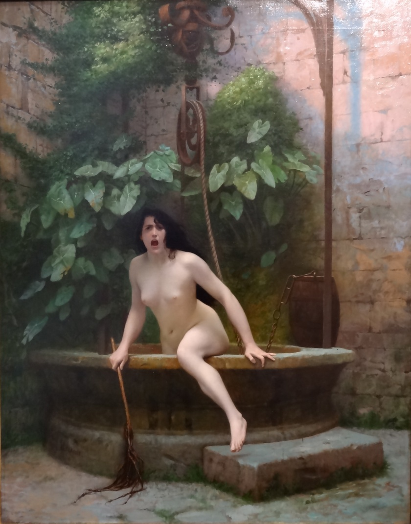 Jean-Léon Gérôme - Truth Coming Out of Her Well, Armed with Her Martinet to Chastise Mankind