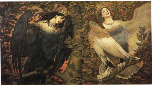 Viktor Vasnetsov - Birds of Joy and Sorrow