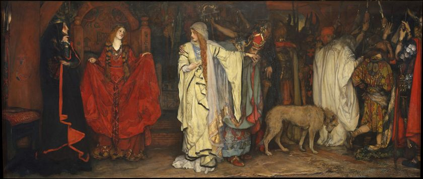 Edwin Austin Abbey – King Lear, Act I, Scene I