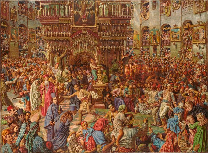 William Holman Hunt – The Miracle of the Holy Fire