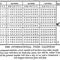 Moses B. Cotsworth's Reformed Calendar