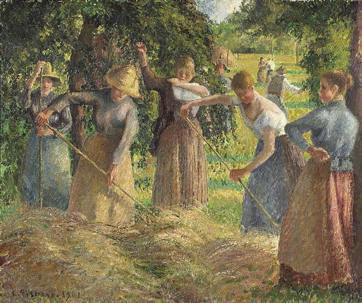 Camille Pissarro - Hay Harvest at Éragny