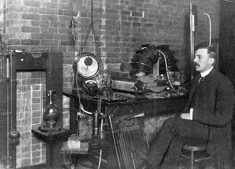 October 13th - Ernest Rutherford sends the first wireless signal to a moving train