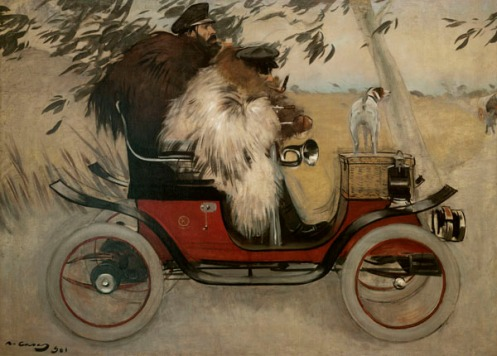 Ramon Casas - Ramon Casas and Pere Romeu in an Automobile