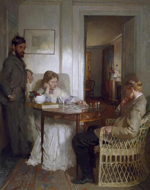 William Orpen – The Chess Players