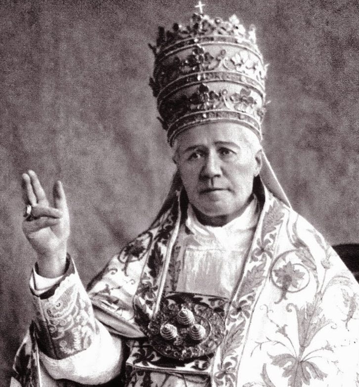 At his coronation ceremony, Pope Pius X shocks his entourage by wearing a simple pectoral cross made of gilded metal, which he says is the only one he owns.