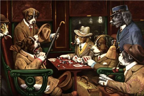 C. M. Coolidge - His Station and Four Aces