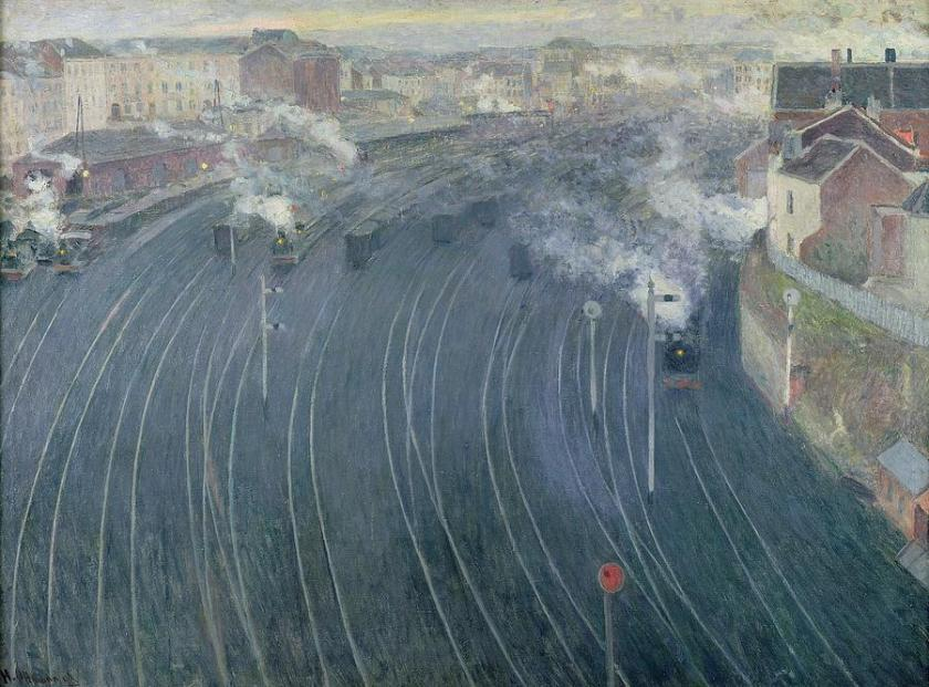 Henri Ottmann - The Luxembourg Station in Brussels