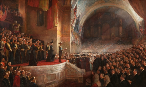 Tom Roberts - The Opening of the First Parliament of the Commonwealth of Australia by H.R.H. The Duke of Cornwall and York