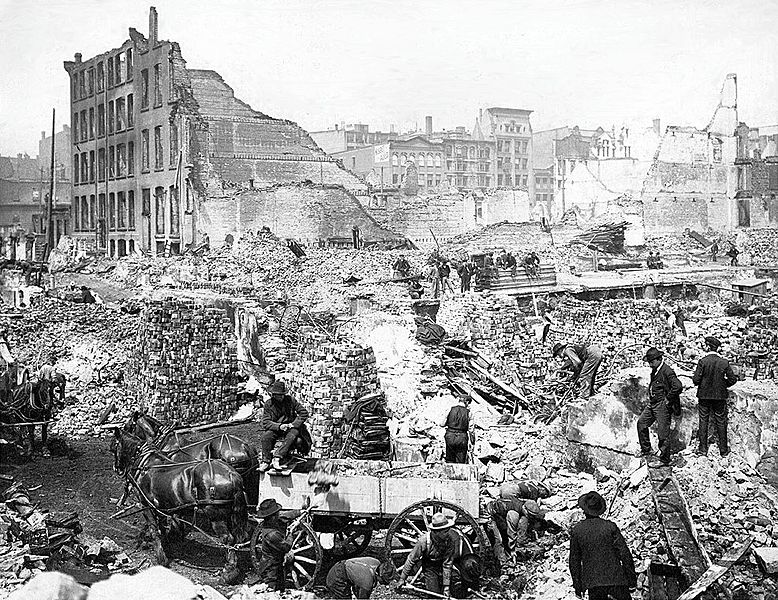 April 19 – The Great Toronto Fire destroys much of that city's downtown, but there are no fatalities.