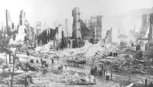 February 7 – The Great Baltimore Fire in Baltimore, Maryland, destroys over 1,500 buildings in 30 hours