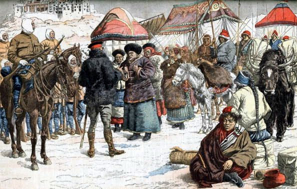 March 31 – British expedition to Tibet – Battle of Guru- British troops under Colonel Francis Younghusband defeat ill-equipped Tibetan troops