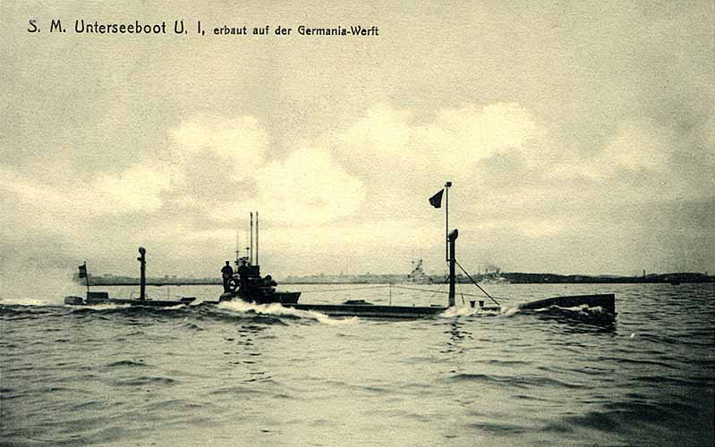 August 4 – The first Imperial German Navy submarine, U-1, is launched.