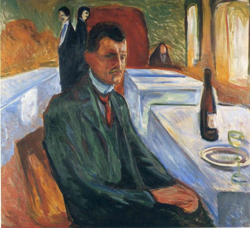 Edvard Munch - Self-portrait with a bottle
