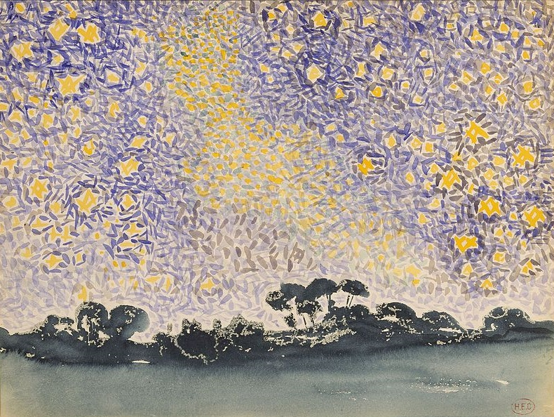Henri-Edmond Cross - Landscape with Stars