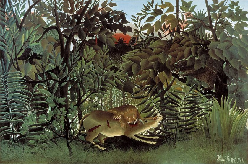 Henri Rousseau – The Hungry Lion Throws Itself on the Antelope