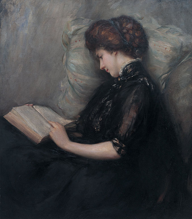 Ishibashi Kazunori – Lady Reading Poetry