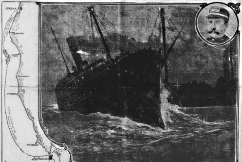 July 21 – The SS Columbia sinks after colliding with the lumber schooner San Pedro, off Shelter Cove, California, resulting in 88 deaths