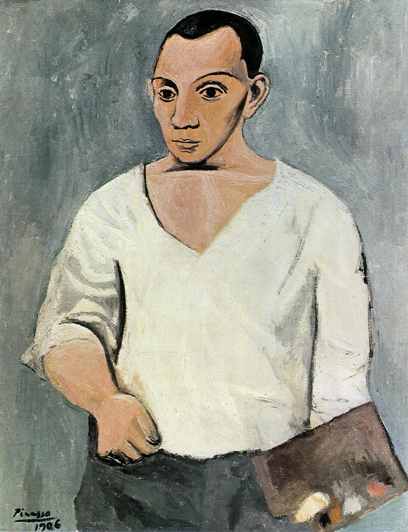 Pablo Picasso - Self-Portrait with Palette