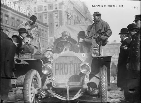 February 12 – The first around-the-world car race, the 1908 New York to Paris Race, begins.