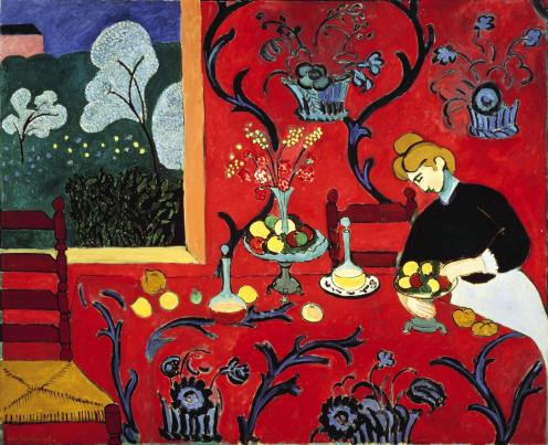 Henri Matisse - The Dessert, Harmony in Red (The Red Room)