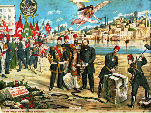April 27 – Sultan of the Ottoman Empire Abdul Hamid II is overthrown and succeeded by his brother, Mehmed V. He is sent to the Ottoman port city of Thessaloniki (Selanik) the next day