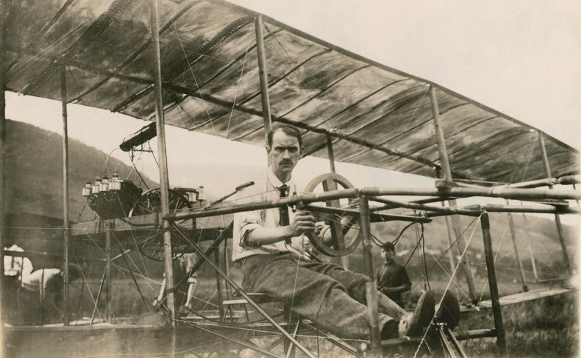August 29 - Glenn Curtiss wins world's first airplane race, after being sued by the Wright Brothers and almost being in the first midair collision
