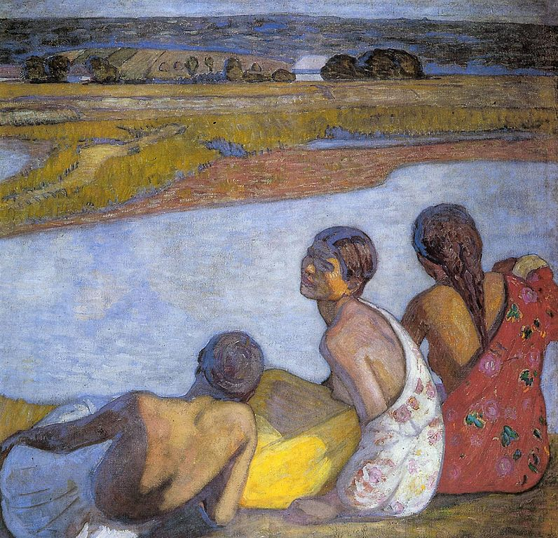 béla iványi-grünwald - gypsy girls by the banks of lápos