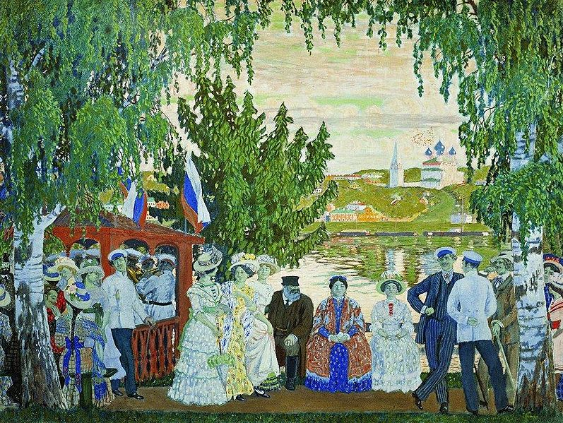 boris kustodiev - promenade along the volga ii