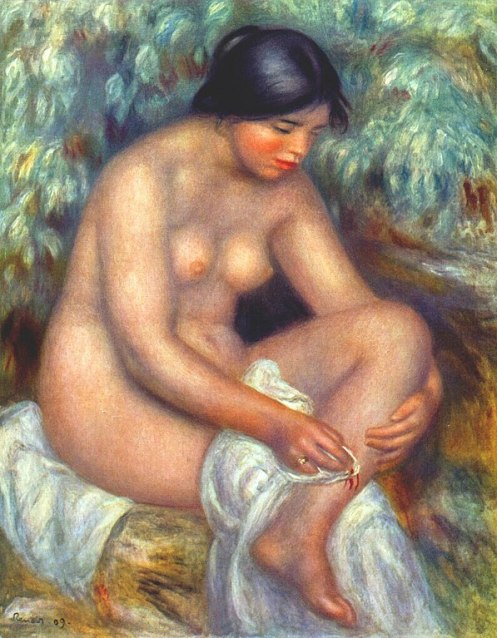 pierre-auguste renoir - bather wiping a wound