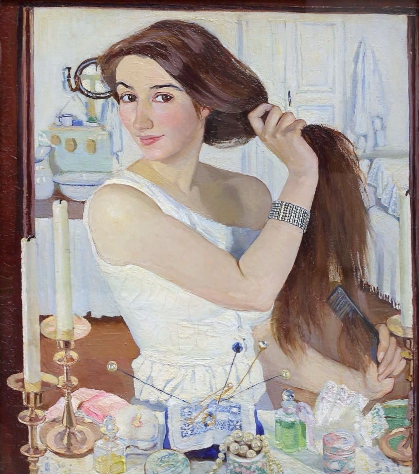 zinaida serebriakova – at the dressing-table self-portrait
