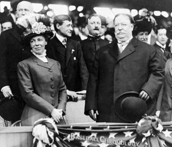 January 1st - U.S. President William H. Taft opens the New Year by shaking hands with 5,575 members of the general public at The White House