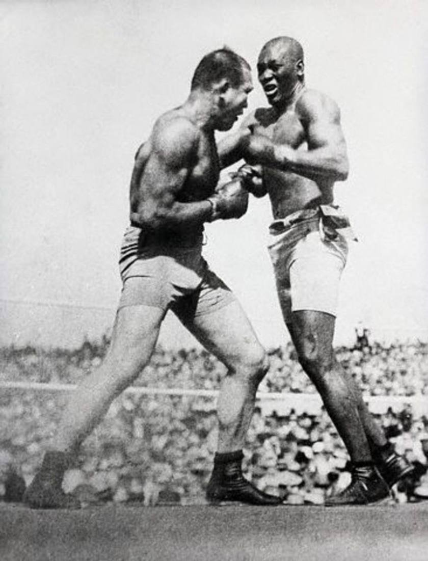 Jack Johnson & Jim Jeffries Boxing