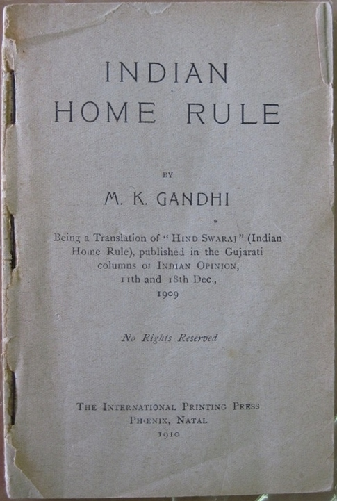March 24th - Hind Swaraj, a pamphlet by Mohandas K. Gandhi advocating disobedience to British rule in India, is banned by colonial authorities upon recommendation by Sir H.A. Stuart