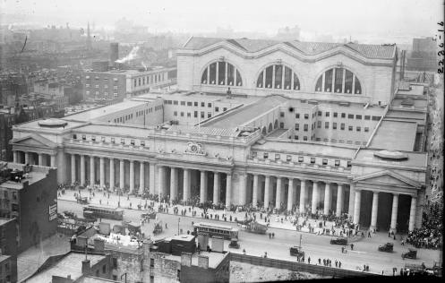 November 27th - Penn Station, hub of the New York City mass transit system, is opened as the Pennsylvania Railroad inaugurated train service between New Jersey and Manhattan