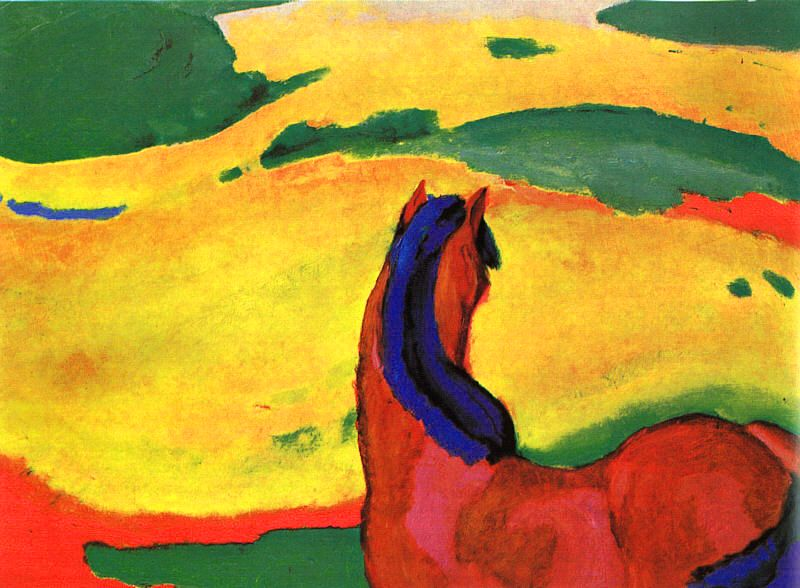 Franz Marc – Horse in a Landscape