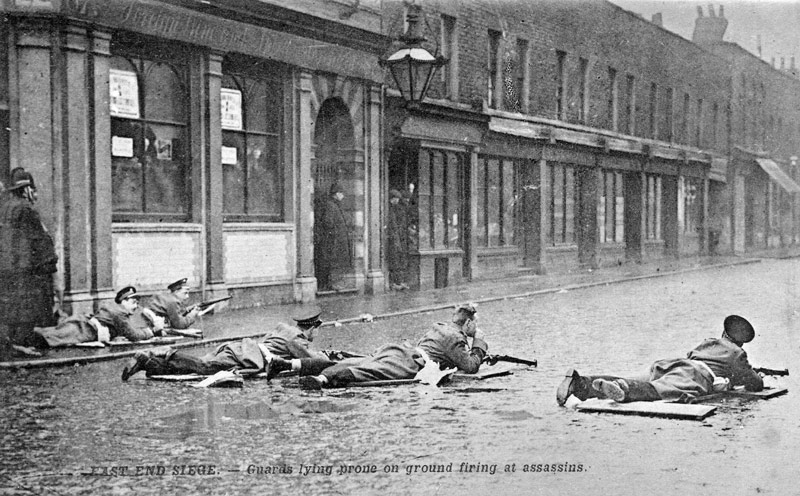 January 2 - Police fight a gunbattle on London's Sidney Street