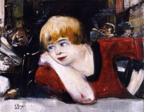 Lesser Ury – Woman in the Romanisches Café