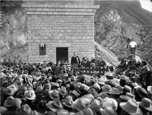 March 18 - Theodore Roosevelt formally dedicates the Roosevelt Storage Dam in the Arizona Territory. At 248 feet, it is the second largest dam in the world.