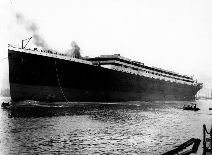 May 31 - The White Star liner RMS Titanic, at the time the largest mobile object ever constructed, is launched from Belfast at 12.13 pm.