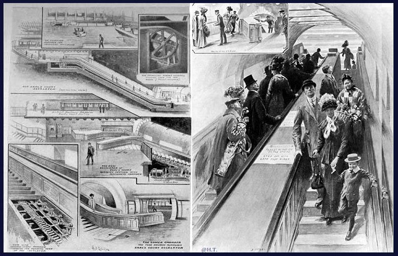 October 4 - The first viable escalator, designed by Charles Seeburger, begins operation at Earl's Court Underground Station in London.