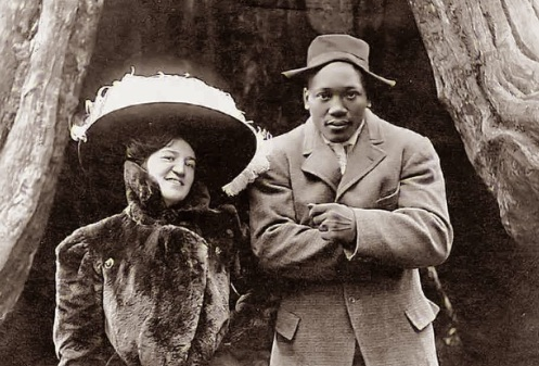 December 4 - African-American boxer Jack Johnson shocks much of America by marrying 'outside his race' to white American Lucille Cameron.